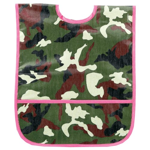 AM PM Kids! Am Pm Kids! Laminated Bib, Pink Camo, Small
