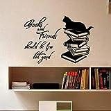 EXQART Adesivo da Parete Libri e Amici Dovrebbero Essere pochi ma buoni. Lettere da Parete Adesivi...
