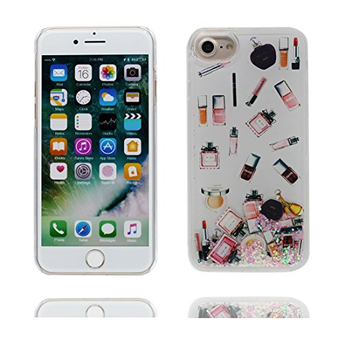 "iPhone 7 Coque, fleur de cerisier - Bling Glitter Flowing Funny Silicone Ultra Slim, Case iPhone 7 Étui 4.7"", Shock Dust Resistant Shell iPhone 7 Cover 4.7"" blanc"