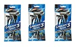 Laser Sport 3 Razor Set of 3 (15 Razor, 15 Cartridges)