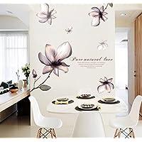 Decalcomanie della parete verde PVC murales romantico arredamento casa Magnolia