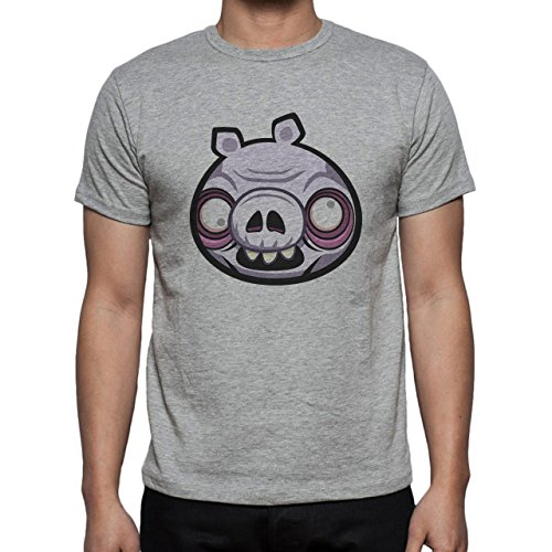 Pig Animal Farm Hog Zombie Herren T-Shirt Grau