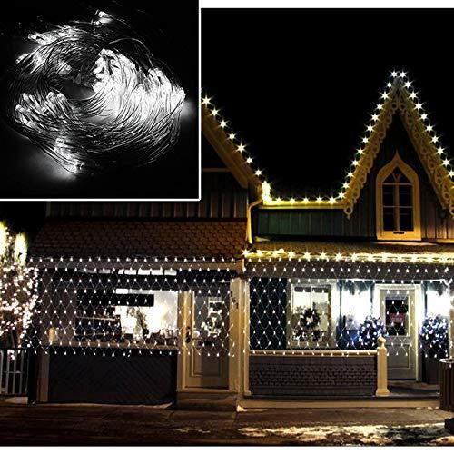 VINGO LED Lichternetz 2 * 2 Meter für Weihnachten Deko Party Festen, Innen, Lichter Netz mit 8 Lichtwechselprogramme