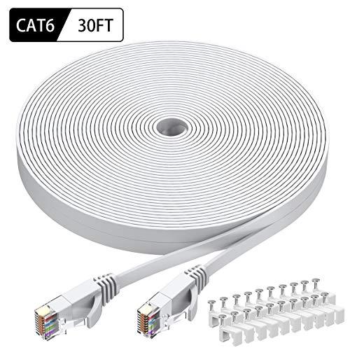 Intelart Cat 6 Ethernet-Kabel 30FT-White 30FT-White