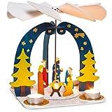 matches21 Weihnachtspyramide 3D Steckbausatz Steck Bausatz aus Holz ca. 26x20x25 cm Bastelset f. Kinder ab 8 Jahren