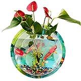 XH Shop Mini-Aquarium-Aquarium, das ökologisches Wand-hängendes Aquarium des Wand-Aquarium Goldfishbecken des ökologischen Wandgestaltung landschaftlich gestaltet (Size : 23cm)