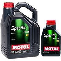 MOTUL Aceite Motor Lubricante 101719 Specific CNG/LPG Motores GPL 5 W-40,