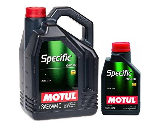Motul Olio motore lubrificante 101719 Specific CNG/LPG motori GPL 5W-40, 6 Litri (1x5 lt + 1x1 lt)