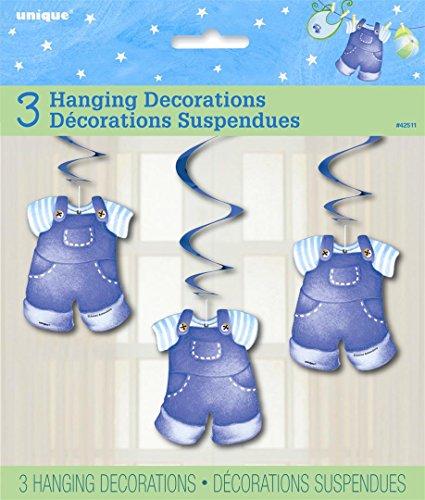 Partido Ênico decoraciones colgantes de la fiesta de bienv (paquete de 3, azul)