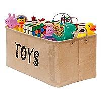 "UPDATED Gimars 22"" Jute Storage Basket Bin Chest Organizer - Perfect for Organizing Toy Storage, Baby Toys, Kids Toys, Dog Toys, Baby Clothing, Children Books, Gift Baskets"