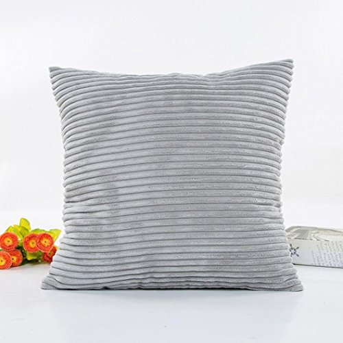 Cushion Cover, Manadlian 2017 New Solid Plush Sofa Home Decor Waist Square Throw Cushion Cover Pillow Case 45*45cm (45*45cm, Gray)