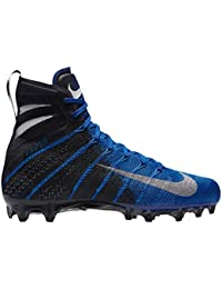sports shoes 21cfd 8cdd3 Nike Men's Vapor Untouchable 3 Elite Football Cleats (Black/Blue, 100)