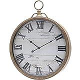 Wanduhr XL 48cm Metall Bahnhofsuhr große Taschenuhr Uhr Nostalgie Antik