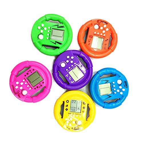 AchidistviQ 23Spiele Lenkrad Form Classic Mini Handheld Game Maschine Kid Geschenk für Erwachsene Zufällige Farbauswahl (Erwachsenen-handheld-spiele)