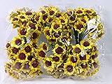 Confezione 144 pezzi-fiori, Bomboniera fiore mini girasole , x segnaposto, composizione confetti. (ck274)