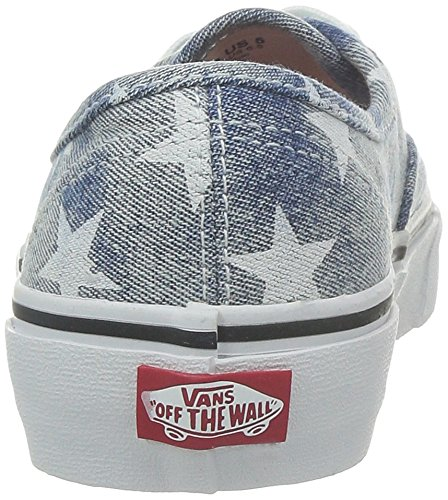Vans U Authentic, Unisex-Erwachsene High-Top Sneaker Blau ((Washed) stars/ / DVD)
