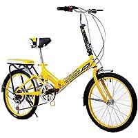 Paseo Bicicleta Plegable para Mujer Bicicleta de 6 velocidades, 20 Pulgadas, con Ruedas,