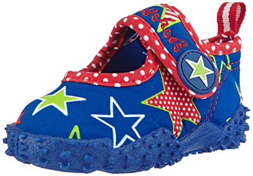 Playshoes Badeschuhe Sterne mit höchstem UV-Schutz nach Standard 801 174758, Mädchen Aqua Schuhe, Blau (original 900), 24/25 EU