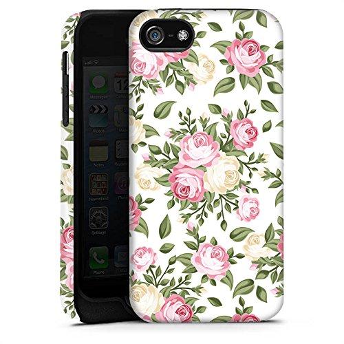 Apple iPhone 4 Housse Étui Silicone Coque Protection Fleur Roses Roses Cas Tough terne