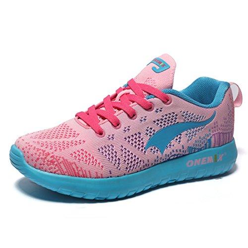 onemix Air Herren Damen Light Laufschuhe Sportschuhe Fitness Atmungsaktives Mesh Turnschuhe Gymnastikschuhe Pink 36