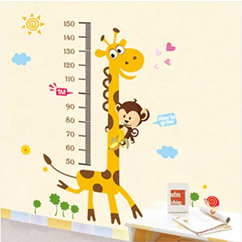 Decals Design 'Kids Giraffe Height Chart' Wall Sticker (PVC Vinyl, 50 cm x 70 cm)