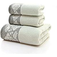 JUNHONGZHANG 3Pcs Solid Hotel De Lujo Una Toalla De Baño Y Toalla Facial Set Inicio Toallas