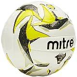 Mitre Samba Futsal Ball, Unisex, Samba Trainer, Weiß/Gelb/Schwarz, Größe 2