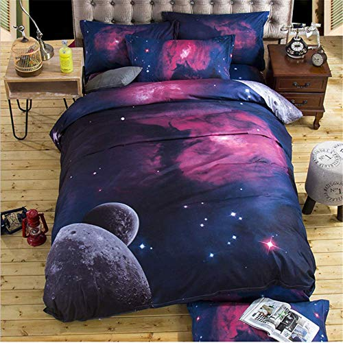 SHJIA 3D Galaxy Bettwäsche Set Bettbezug Set Universe Outer Space Themed Kissenbezug Bettbezug Queen Twin E 150x210cm - Piraten Bettwäsche Twin