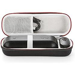 L3 Tech Étui Rigide Housse De Transport Sac pour Apple Dr. Dre Beats Pill + Pill Plus Haut-Parleur sans Fil Bluetooth sans Fil. Adapté au câble USB et au Chargeur Mural - Noir