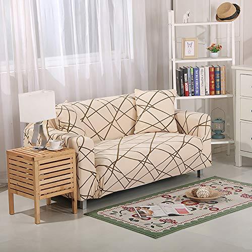 MissHome Sofabezug Elastischer Sofaüberwurf Sofa Cover Stretch Hussen für Sofa/Couch Rutschfest Möbelschutz Sofahusse Couchbezug 1/2/3/4 Sitzer
