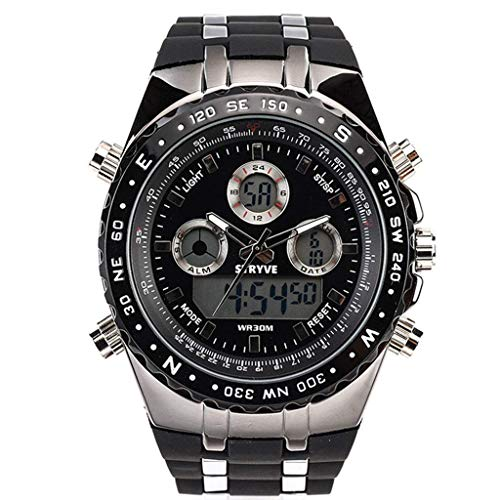 JBP Max Mens Sport Waterproof Watch Multi-Funktion Digital -