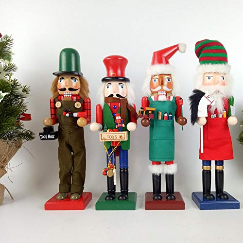 Kostüm Patron Saints - Ridecle Weihnachtsnussknacker Ornamente Holznussknacker auf Ständer 38cm Figuren Puppenspielzeug Geschenke für Zuhause Dekoration