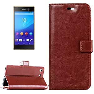 Crazy4Gadget For Sony Xperia M5 Crazy Horse Texture Horizontal Flip Leather Case with Magnetic Buckle & Holder & Card Slots & Wallet & Photo Frame(Brown)