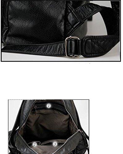 Moda Classico Di Tessitura PU Donne Borse A Tracolla Black