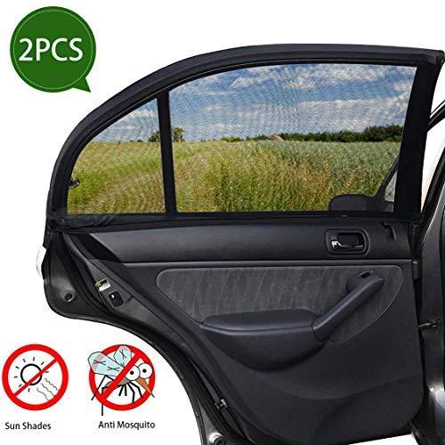 SPECOOL Ventana lateral para el automóvil Pantalla solar y ventana trasera Sombrilla (paquete de 2), proteja a su bebé para mascotas del resplandor solar y los rayos UV.