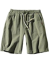 eedce50d52 Pantalones Cortos De Playa Hombre Chino Pantalones De Lino Cargo Bermuda  Shorts Comodidad Transpirable Tallas Grandes