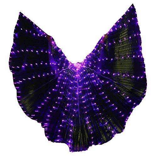 Bldance Bauchtanz Isis Flügel LED mit Teleskopstangen (Lila)