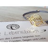 Armband Armbänder Geschenk Makramee Mutter Tochter Muttertag Geschenk Geschenkidee Schmuck Lebensbaum Frau Frauen Damen Schwester sehr hochwertig Geburtstag Silvester