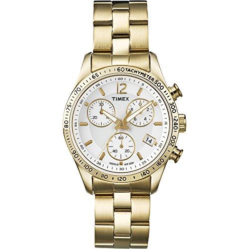Timex Damen-Armbanduhr Chronograph Quarz Edelstahl T2P058
