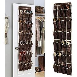 24 Bolso de Espacio de Zapatos de la Puerta, Zapatero de la pared,Gabinete para Calzado de almacenamiento de bolsas