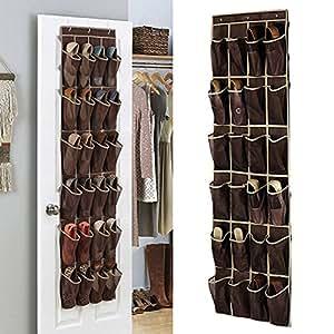 zum aufh ngen schuh organizer 24 taschen schuhe ablagefl che f r kleiderschrank t r schrank. Black Bedroom Furniture Sets. Home Design Ideas