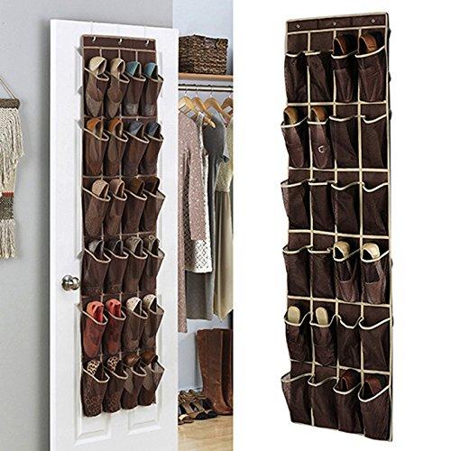 24 Pocket Tasche Tür Hängen Halter Schuh Organizer Kleiderschrank Lager Box Haken Schlafzimmer Haushalt Zubehör
