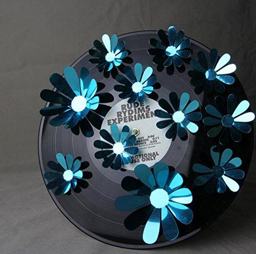 LNPP 3D Sonnenblumen Wandaufkleber Wand Dekor Spiegel Wandaufkleber f¨¹r Schlafzimmer , blue: sunflower Vintage-sonnenblume-dekor