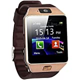 New Bluetooth 4g Smart Watch For Men / Boys / Girls / Women   Facebook / Whatsapp Messaging / 4g Sim Card Support / Touch Screen / Built It Camera / Compatible With All Samsung, Xiaomi, Lenovo, Oppo Android / IOS Apple IPhone Mobile Phones - Brown Color