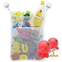 Pequeño juguetes Baño Almacenamiento Para Bebés y Niños con 4 Bolsillos y 2 Ventosas de Vacío y 2 Juguete de Rociar-agua