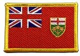 Flaggen Aufnäher Kanada Ontario Fahne Patch + gratis