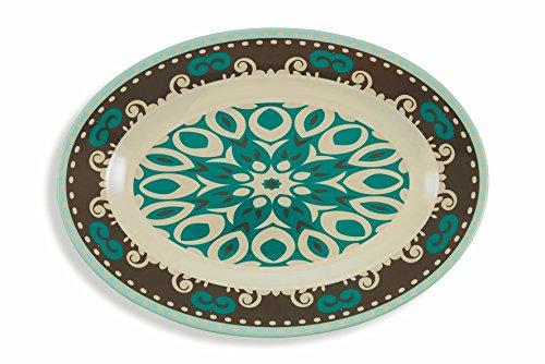 Villa d'Este Home Tivoli Cala Jonda Set 6 l Piatto Portata Ovale, Melamina, Multicolore, 6 unità