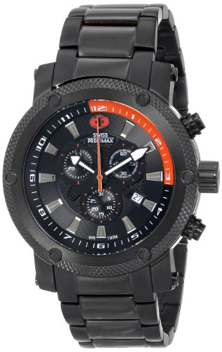 Swiss Precimax Men's SP13085 Volt Pro Analog Display Swiss Quartz Black Watch
