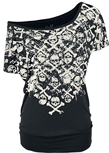 Full Volume by EMP Crossbones Skully Shirt Maglia donna nero XL