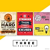 #7: Fatmug Motivational Posters For Office And Study Room - Set Of 3 - 13X19 In - Inspirational Wall Quotes Q6